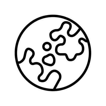 vitiligo skin disease line icon vector. vitiligo skin disease sign. isolated contour symbol black illustration