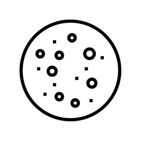 blackhead skin disease line icon vector. blackhead skin disease sign. isolated contour symbol black illustration