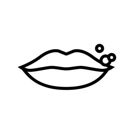 herpes skin disease line icon vector. herpes skin disease sign. isolated contour symbol black illustration 矢量图像