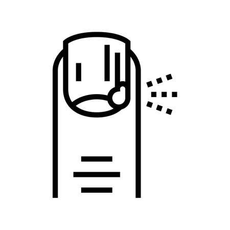 mycosis skin disease line icon vector. mycosis skin disease sign. isolated contour symbol black illustration