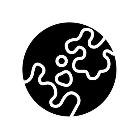 vitiligo skin disease glyph icon vector. vitiligo skin disease sign. isolated contour symbol black illustration