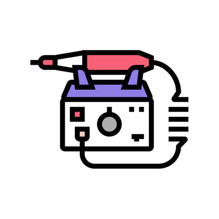 electric nail drill color icon vector. electric nail drill sign. isolated symbol illustration 矢量图像