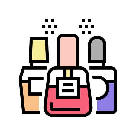 nail polish color icon vector. nail polish sign. isolated symbol illustration 矢量图像