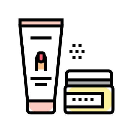 manicure cream cosmetics color icon vector. manicure cream cosmetics sign. isolated symbol illustration