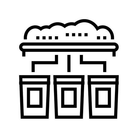 garbage sorting machine line icon vector. garbage sorting machine sign. isolated contour symbol black illustration Vectores