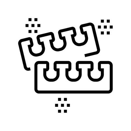 toe splitter for pedicure line icon vector. toe splitter for pedicure sign. isolated contour symbol black illustration