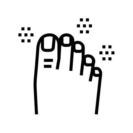 luxury pedicure line icon vector. luxury pedicure sign. isolated contour symbol black illustration