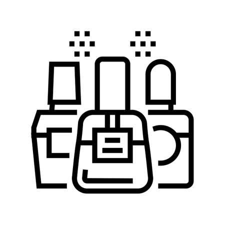 nail polish line icon vector. nail polish sign. isolated contour symbol black illustration