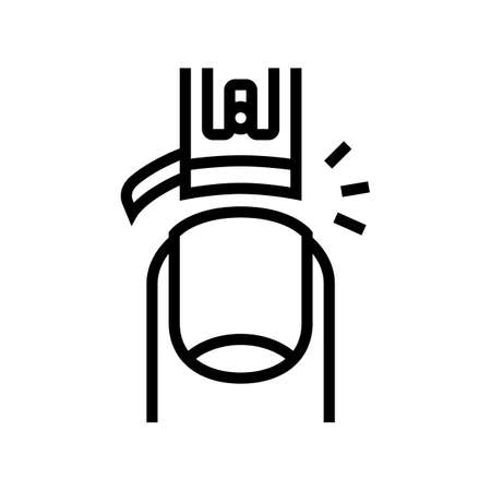 nail cutting line icon vector. nail cutting sign. isolated contour symbol black illustration 矢量图像