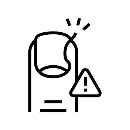 nail inflammation line icon vector. nail inflammation sign. isolated contour symbol black illustration 矢量图像