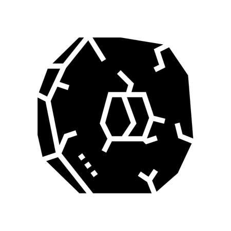 prehistoric megalithic stone coin glyph icon vector. prehistoric megalithic stone coin sign. isolated contour symbol black illustration