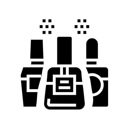 nail polish glyph icon vector. nail polish sign. isolated contour symbol black illustration