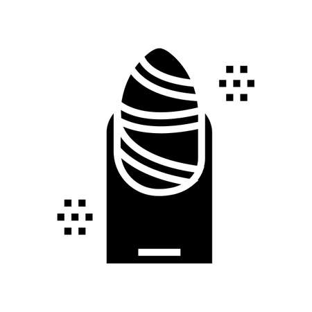 fashion manicure glyph icon vector. fashion manicure sign. isolated contour symbol black illustration