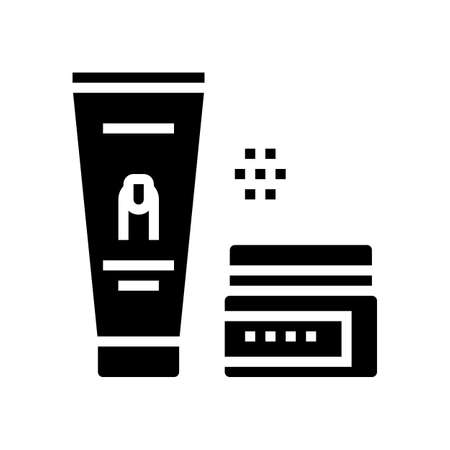 manicure cream cosmetics glyph icon vector. manicure cream cosmetics sign. isolated contour symbol black illustration