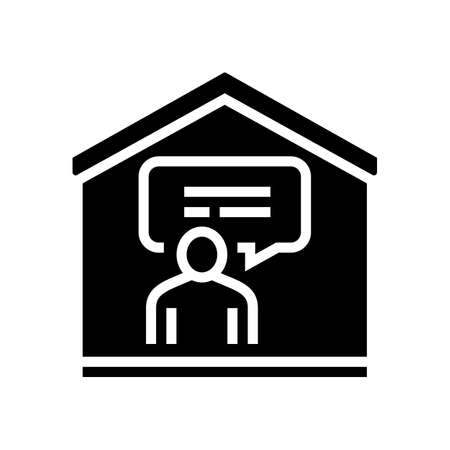 talking and communication glyph icon vector. talking and communication sign. isolated contour symbol black illustration Ilustracja