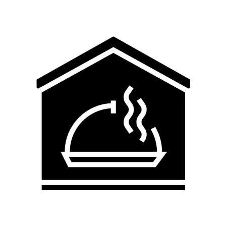 cooking remote training glyph icon vector. cooking remote training sign. isolated contour symbol black illustration