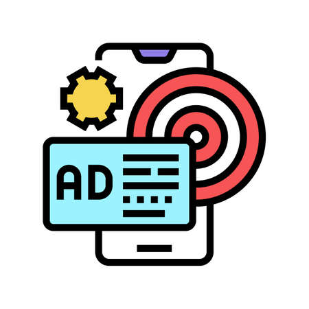 targeted advertising color icon vector. targeted advertising sign. isolated symbol illustration