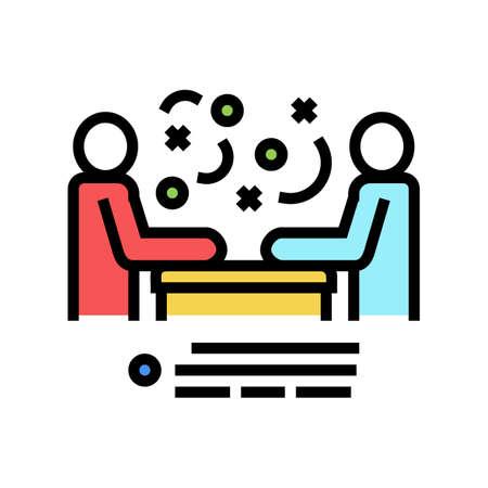 seller and client communication color icon vector. seller and client communication sign. isolated symbol illustration Ilustração Vetorial