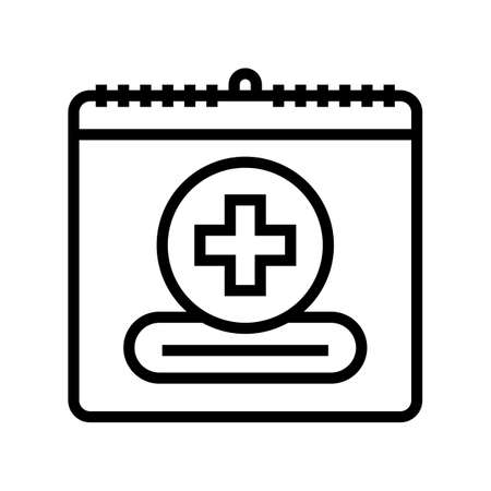 world red cross day line icon vector. world red cross day sign. isolated contour symbol black illustration