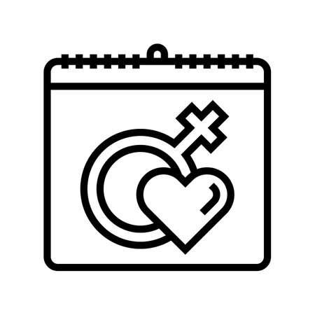 international women day line icon vector. international women day sign. isolated contour symbol black illustration