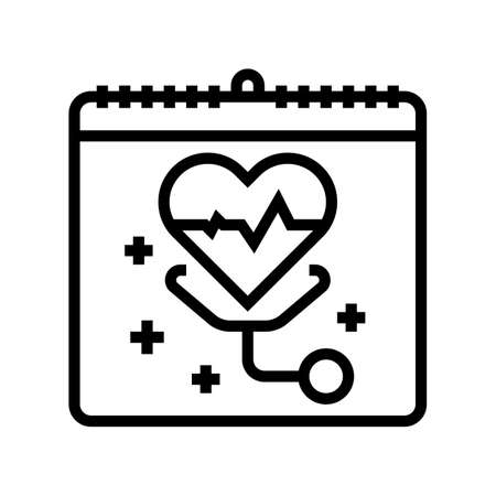 world health day line icon vector. world health day sign. isolated contour symbol black illustration
