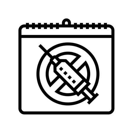 international day against drug abuse and trafficking line icon vector. international day against drug abuse and trafficking sign. isolated contour symbol black illustration 向量圖像