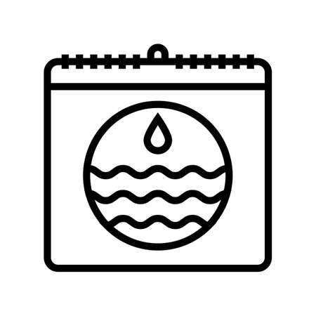 world water day line icon vector. world water day sign. isolated contour symbol black illustration 向量圖像