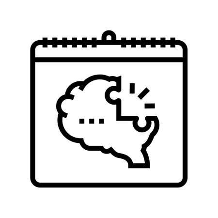 world schizophrenia day line icon vector. world schizophrenia day sign. isolated contour symbol black illustration