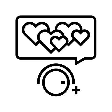 winding up likes line icon vector. winding up likes sign. isolated contour symbol black illustration 向量圖像