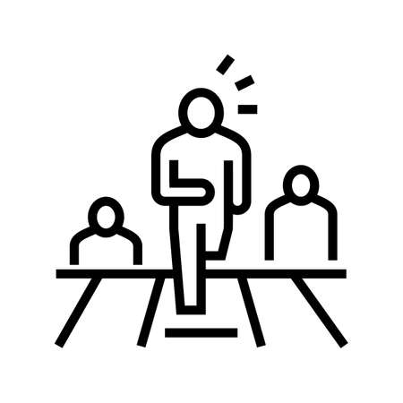 first leader running line icon vector. first leader running sign. isolated contour symbol black illustration
