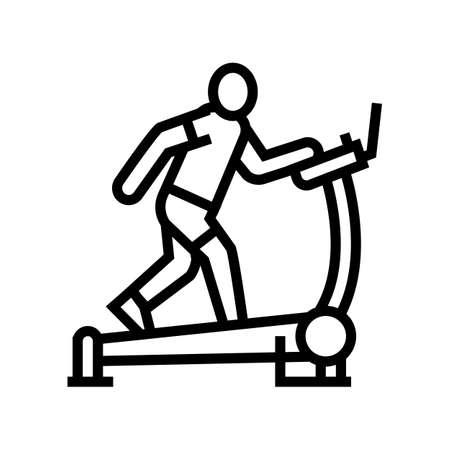 treadmill sport equipment line icon vector. treadmill sport equipment sign. isolated contour symbol black illustration 向量圖像
