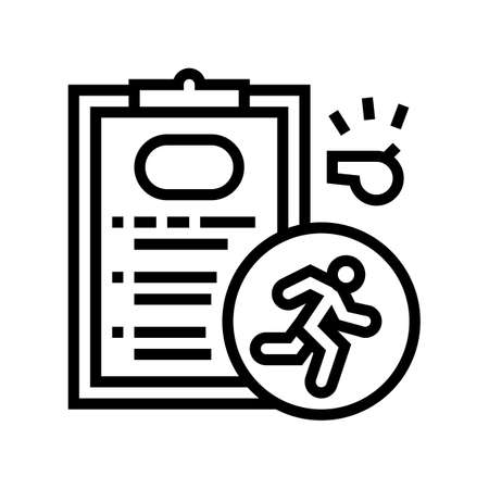 runner sportsman card line icon vector. runner sportsman card sign. isolated contour symbol black illustration