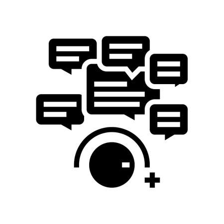 winding up comments glyph icon vector. winding up comments sign. isolated contour symbol black illustration