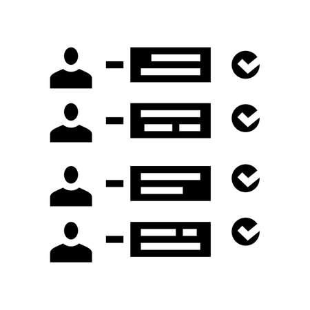 delivery order customer report glyph icon vector. delivery order customer report sign. isolated contour symbol black illustration