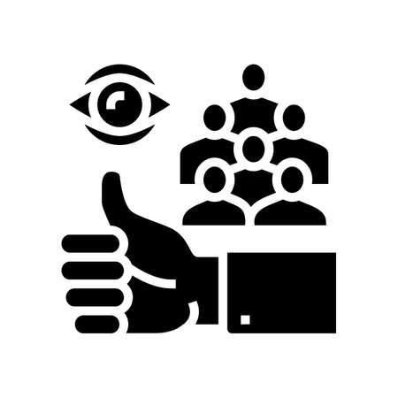 company work like review glyph icon vector. company work like review sign. isolated contour symbol black illustration