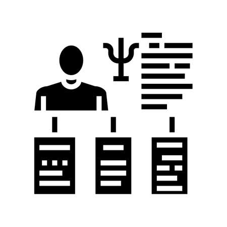 worker different traits glyph icon vector. worker different traits sign. isolated contour symbol black illustration