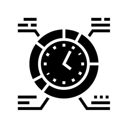 work schedule glyph icon vector. work schedule sign. isolated contour symbol black illustration 向量圖像