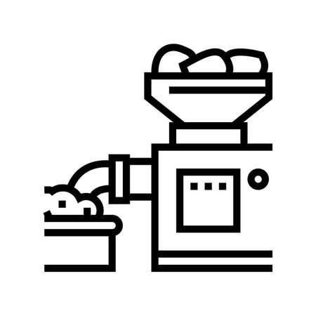 grinding meat device line icon vector. grinding meat device sign. isolated contour symbol black illustration Vektorgrafik