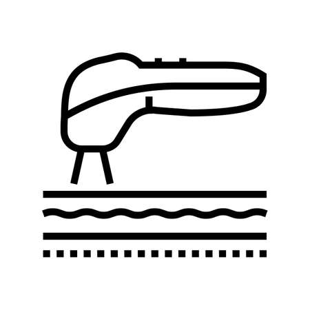 smoothing skin laser treatment line icon vector. smoothing skin laser treatment sign. isolated contour symbol black illustration