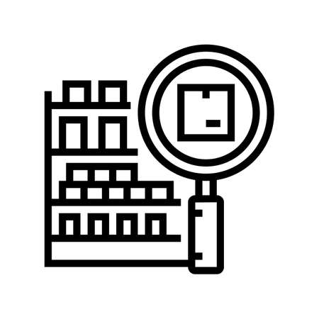 inventory management line icon vector. inventory management sign. isolated contour symbol black illustration