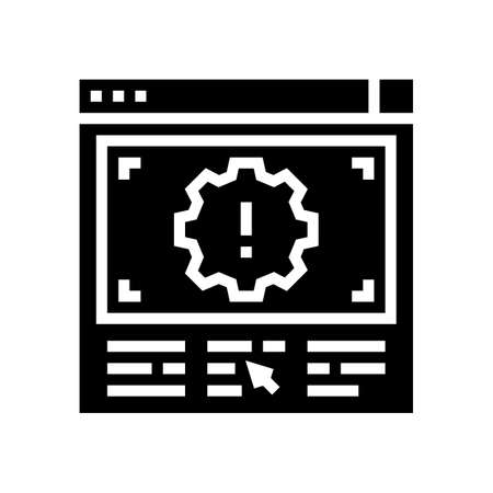 wronge internet settings glyph icon vector. wronge internet settings sign. isolated contour symbol black illustration