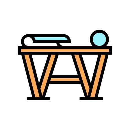 preparation for gluing wallpaper color icon vector. preparation for gluing wallpaper sign. isolated symbol illustration Vecteurs