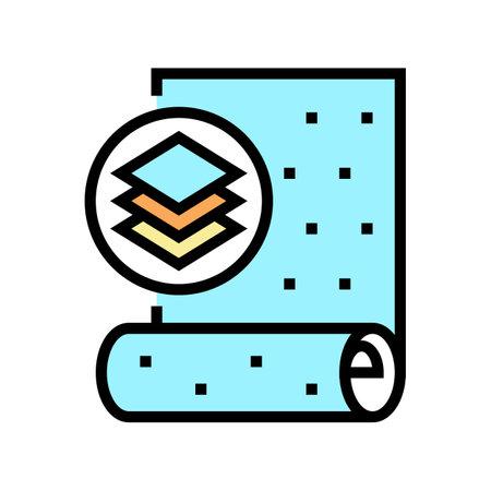 non-woven wallpaper color icon vector. non-woven wallpaper sign. isolated symbol illustration