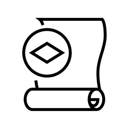 paper wallpaper line icon vector. paper wallpaper sign. isolated contour symbol black illustration