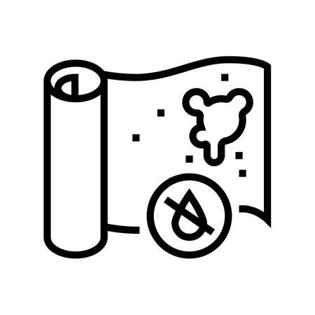 non-waterproof wallpaper line icon vector. non-waterproof wallpaper sign. isolated contour symbol black illustration