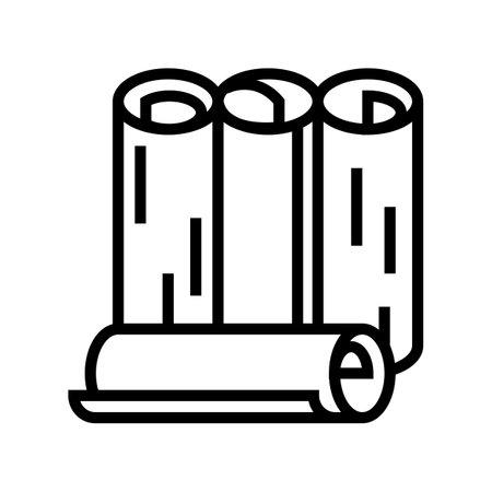 rolls wallpaper line icon vector. rolls wallpaper sign. isolated contour symbol black illustration