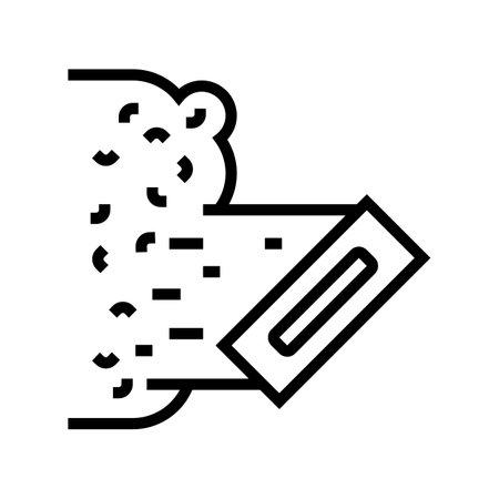 liquid wallpaper line icon vector. liquid wallpaper sign. isolated contour symbol black illustration Vecteurs