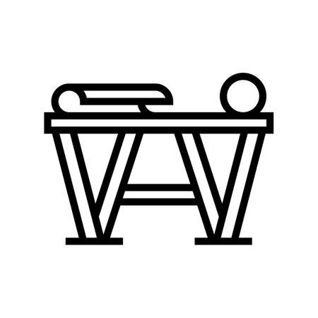preparation for gluing wallpaper line icon vector. preparation for gluing wallpaper sign. isolated contour symbol black illustration Illustration