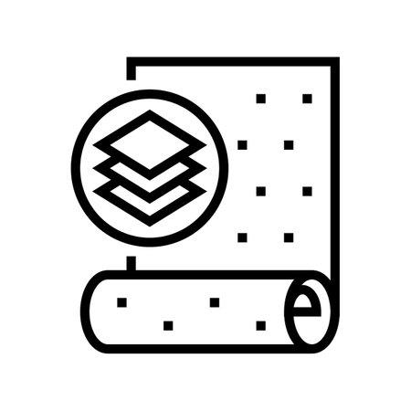 non-woven wallpaper line icon vector. non-woven wallpaper sign. isolated contour symbol black illustration