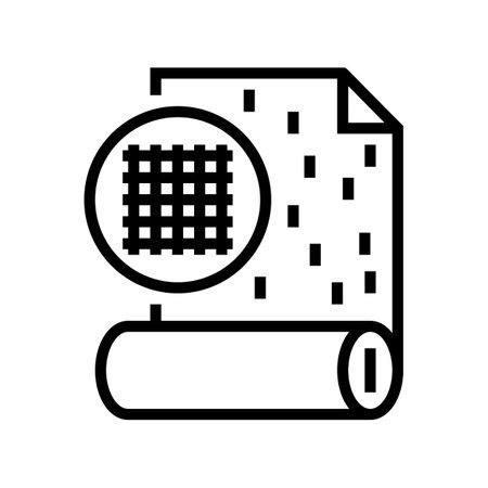 fiberglass wallpaper line icon vector. fiberglass wallpaper sign. isolated contour symbol black illustration